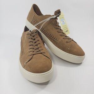 Toms Men Lenox Toffee Suede Woven Sneakers